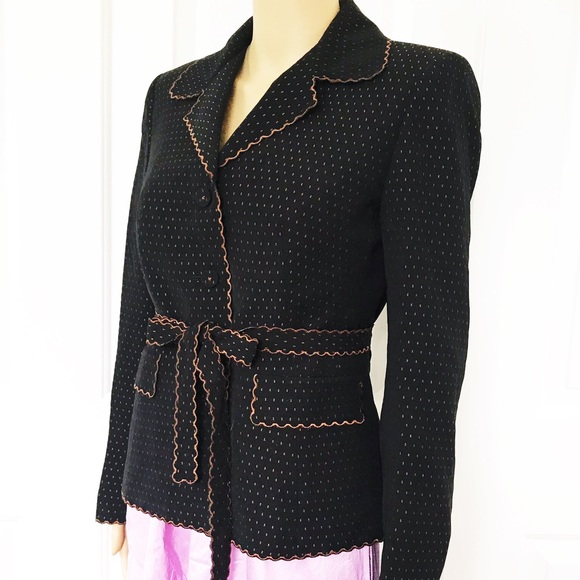 Nipon Boutique Jackets & Blazers - Nipon Boutique Scalloped edges with belt blazer